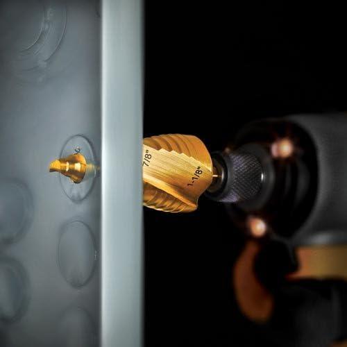 DEWALT Step Drill Bit Set 7//8-Inch to 1-1//8-Inch DWA1789IR