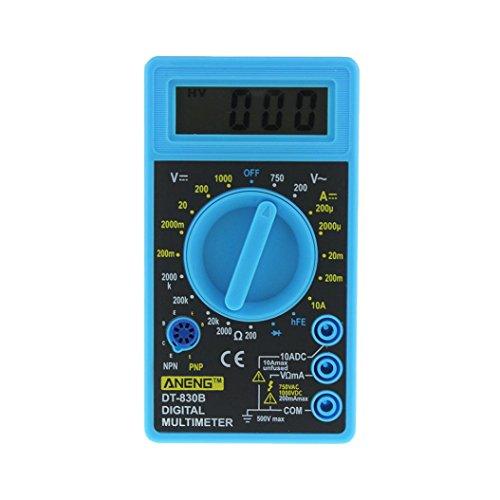 LtrottedJ Digital LCD DT-830B Handheld Multimeter ,Volt Amp Temperature Test Meter - Wire Piercing Test Lead Adapters