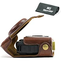 MegaGear Ever Ready Protective Leather Camera Case, Bag for Canon PowerShot G15 (Dark Brown)