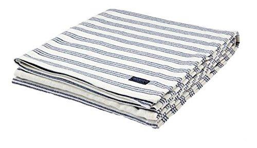 - Faribault Beacon Stripe Throw Blanket, Midnight Blue