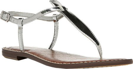 14f0d1cef082 Galleon - Sam Edelman Women s Gigi Soft Silver Liquid Metallic Sandal