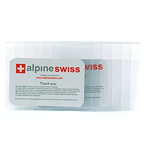 Checkbook Plastic Insert Made in USA by Alpine Swiss 6 Page SET of 2 Card Holder - Bi Fold Checkbook Wallet