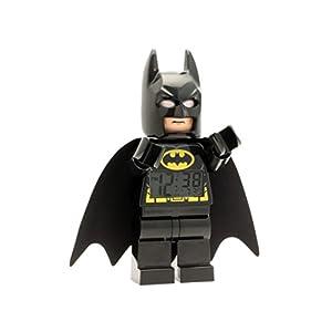 LEGO Despertador Infantil con Figurita de Batman de Batman PELÍCULA 9005718|Negro/Amarillo|Plástico|24 cm de Altura|Pantalla LCD|Chico Chica|Oficial 4