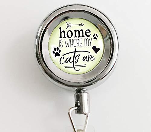 asd Llavero de Gato Colgante de «Home is Where my Cats» con ...