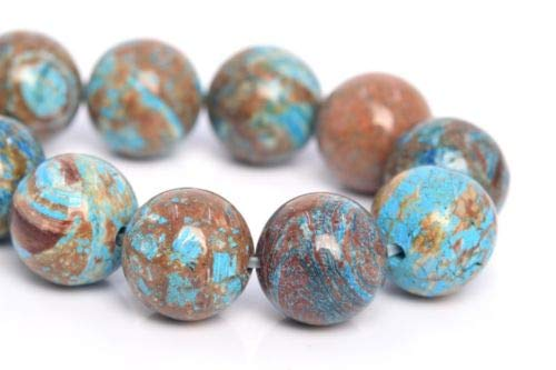 (10mm Natural Blue Green Crazy Lace Agate Bead Grade Round Loose Bead 7.5'' Crafting Key Chain Bracelet Necklace Jewelry Accessories)