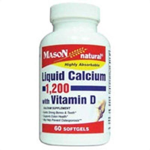 Mason Liquid Calcium 1200 Mg with Vitamin D SoftGels - 60 ea by Mason Natural