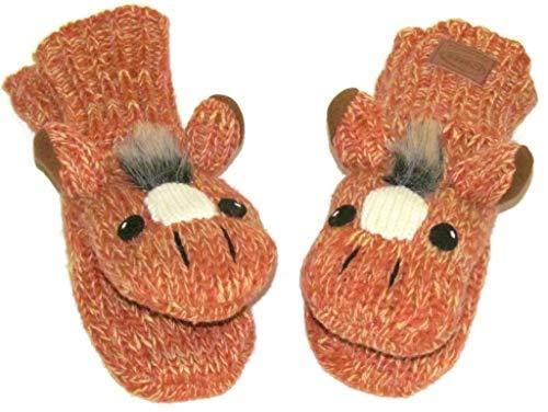 Women's Horse Mittens – Wool Blend Horse Shaped Mittens