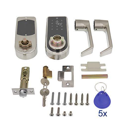 ETEKJOY Electronic Door Lock 3-in-1 Password RFID Card/Tag Hidden Keyhole Digital Touchscreen Keypad Left/Right Lever Reversible Handle Keyless Smart Auto Lock by ETEKJOY (Image #5)