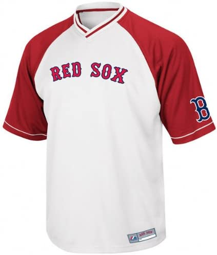 Boston Red Sox Majestic White V-Neck Full Force Jersey