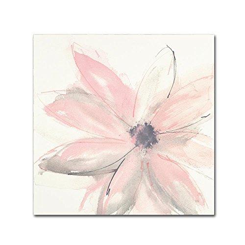 Blush Art - Blush Clematis I by Chris Paschke, 18x18-Inch Canvas Wall Art
