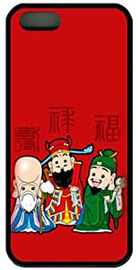 Chinese Gods Fu Lu Shou Wealth Prosperity Longevity Full Wrap Case Cover for Iphone 5, 5S,