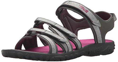 Youth Hurricane - Teva Girls' Y Tirra Sport Sandal, Silver/Magenta, 4 M US Big Kid