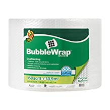 Duck Brand Bubble Wrap Protective Packaging, 12 Inches Wide x 150 Feet Long, Single Roll (1328730)