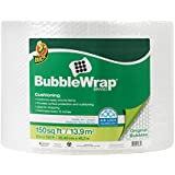 """Duck Brand Bubble Wrap Roll, 3/16"""" Original Bubble Cushioning, 12"""" x 150', Perforated Every 12"""" (284054)"""