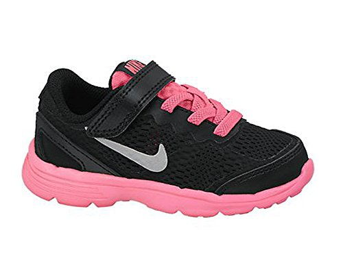 New Nike Baby Girl's Fusion Run 3 Athletic Shoes Black/Hyper Pink 4