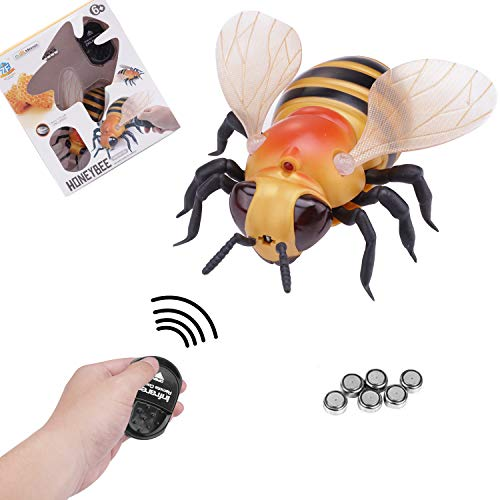 Greatstar Remote Control Insect Toy For Kids,Mini 4 Inch Realistic Simulation&Teaching Prank Toys Christmas Halloween Gift (Bee) -