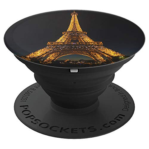 Paris at night Eiffel Tower sparkle nighttime city of light - PopSockets Grip and Stand for Phones and Tablets - Eiffel Tower Sparkle