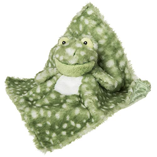 Mary Meyer Super Soft Stuffed Animal Security Blanket, Fizzy Frog, 13 x 13-Inches