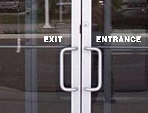 StickerLoaf Brand EXIT & ENTRANCE DOOR WINDOW DECAL Sign Signs BUSINESS SHOP Storefront VINYL Stickers cafe boutique deli restaurant office lobby hotel motel bar club ()