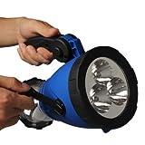 Portable 5LED Hand Crank Flashlight Camping Charge Powered Lanterns+Car Adapter