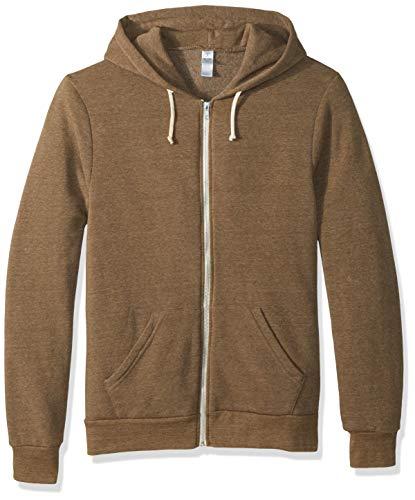 Alternative Men's Rocky Zip Hoodie Sweatshirt, Eco True Military, 2X ()