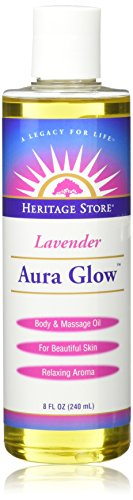 Heritage Products Aura Glow, Lavender Scent, 8 Fluid Ounces (240 ml) Aura Glow Massage Oil