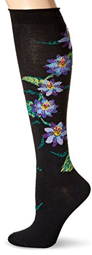 Socks Knee Floral High - Ozone Women's Passionvine Apothecary Florals Knee High Sock, black, 9-11