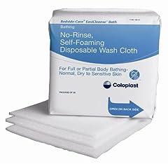No-Rinse, Self-foaming, Disposable Washcloth. Non-irritating, non-sensitizing. Preservative, dye, alcohol and latex-free, pH balanced, CHG compatible. Safe for neonatal use.