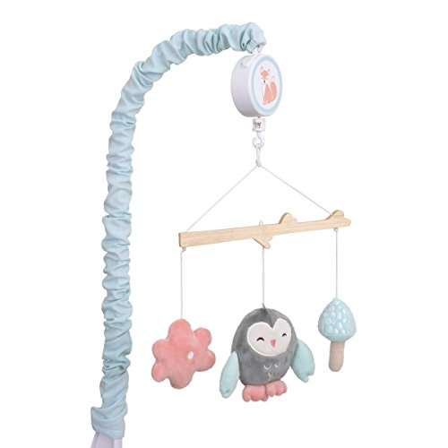 Carters Woodland Meadow Forest/Owl Musical Mobile, Pink/Aqua/Gray