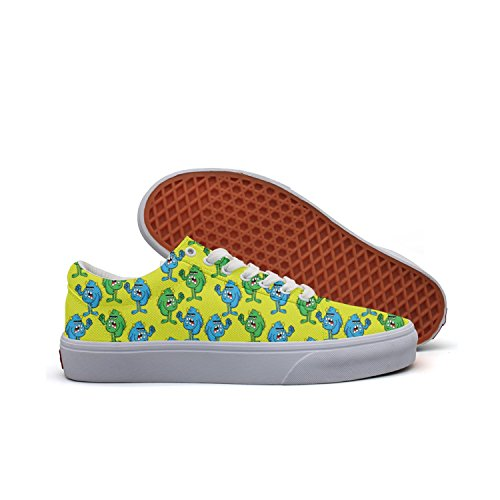 Angry Monster Women's Casual Shoes Skateboard Cool Print (Sully Costume Monsters Inc Woman)
