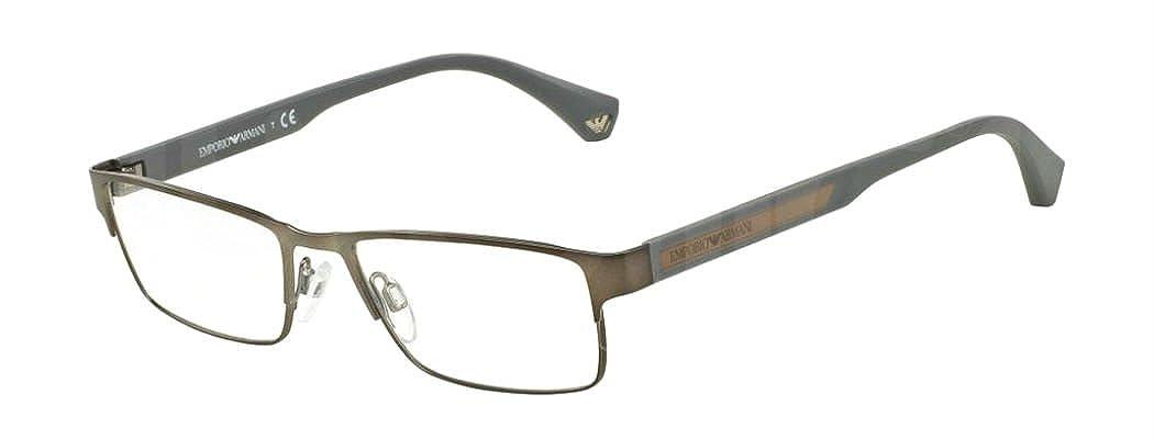45de6afffe4 Emporio Armani EA 1035 Men s Eyeglasses Matte Gunmetal 53 at Amazon Men s  Clothing store