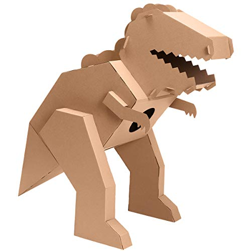 iBonny Cardboard Dinosaur Coloring Playhouse T-Rex 3D Model Pretend Play Toy Eco-Friendly Playhouse for Kids for $<!--$25.99-->
