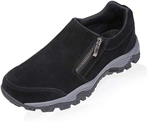SILENTCARE Mens Slip On Hiking Shoes Lightweight Breathable Outdoor Trailing Trekking Walking Shoes Casual Loafers