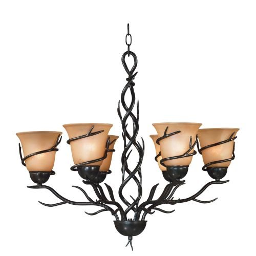 Kenroy Home 90900BRZ  Twigs 6-Light Chandelier, Blackened Bronze Finish Review