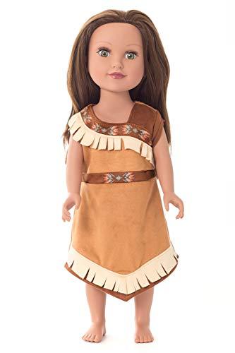 Little Adventures Native American Princess Doll Dress Brown ()