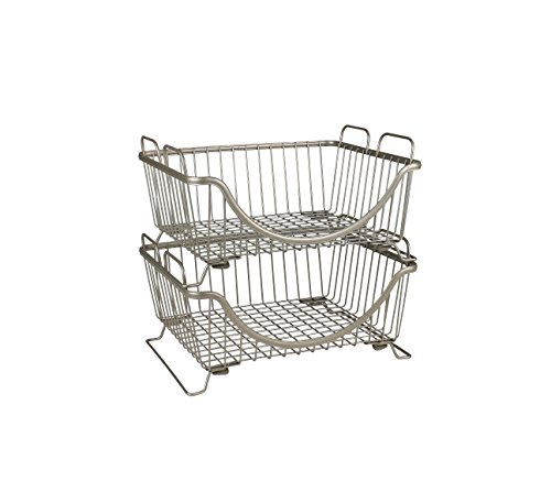 Spectrum Diversified Ashley Stackable Basket Tray, Satin Nickel