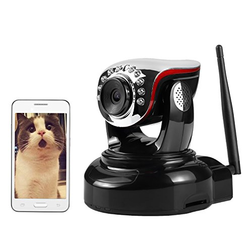 Wireless IP Camera, Nexgadget 720P WiFi Security Camera with Two-Way Audio, Motion Detection Built-in Alarm Jack,...