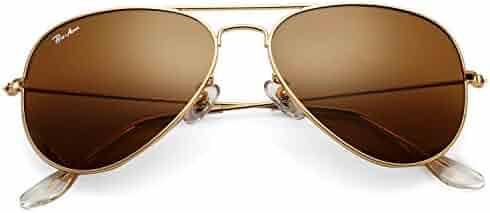 5cfd47de6 Pro Acme Classic Aviator Sunglasses for Men Women 100% Real Glass Lens