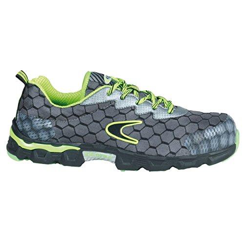 "Cofra je020–000.w46Talla 46s1P SRC Lowball ""zapatos de seguridad, color gris/lima/verde"