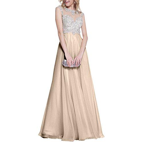 Ballkleider Linie Langes Champagner A Spitze mia Promkleider Festlichkleider Rock Pink Abendkleider La Damen Braut 8qOSv