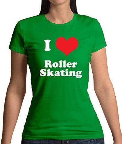 I Love Botines Patines - Camiseta para dama - 11 Colores - algodón, Verde Irlandés