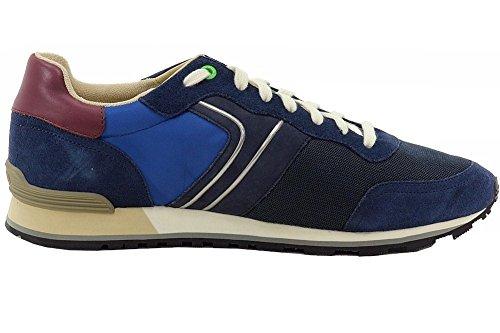 Hugo Boss Mens Parkour_runn_nymx Chaussures De Sport En Cuir Bleu Foncé