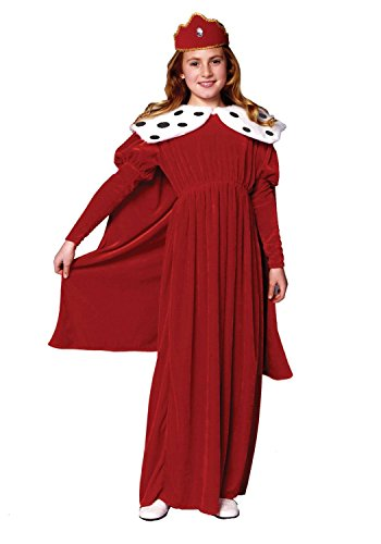 [Royal Queen With Cape Velvet (Red;Medium)] (Red And White Queen Costumes)