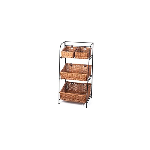 (Skalny Willow Iron 3-Tier Four Bin Display Organizer)