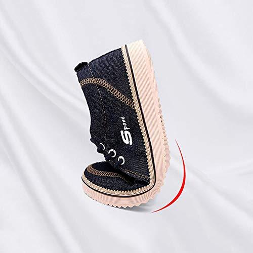 Canvas Black Piattaforma Bar Scarpe Scarpe Ginnastica Wide On Basse New Scarpe Slip Basse Mens Da Comfort Fit axnqw5fw8
