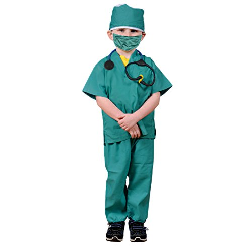 Dazzling Toys Kids Pretend Play Doctor/Nurse Costume Set with Accessories