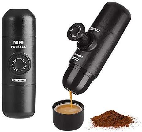 NO BRAND Máquina de café, Manual Cafetera presión de Mano portátil de cápsulas de café Nespresso cápsulas Máquina for Mini-Máquina de café: Amazon.es: Hogar