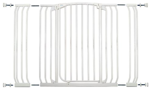 Dreambaby Chelsea Extra Tall and Wide Auto Close Security Gate in White with Extensions by Dreambaby