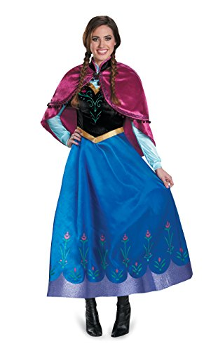 Disguise DIS83163 Ladies Large 12-14 Anna Traveling Costume Prestige Blue ()