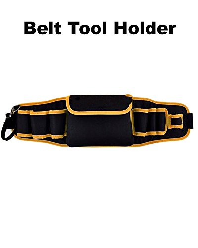 Heavy-duty Construction Tool Holder with 8 Pockets, Multi-Function Belt Tool Holder, Pouch Tool Belt Bag Electrician Carpenter Contractor Construction by Magic Hub HmE